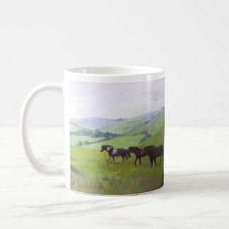 Potros en las tazas de Dartmoor