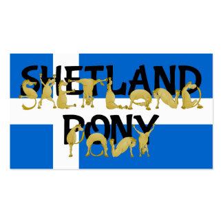 Potros flexibles - Shetland Tarjeta De Visita