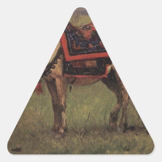 Potros Himalayan de Vasily Vereshchagin Pegatina Triangular