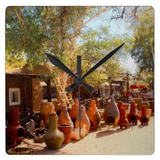 Pots and Ladders, Tubac Acrylic Wall Clock
