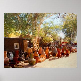 Pots and Ladders, Tubac, Arizona Canvas Print