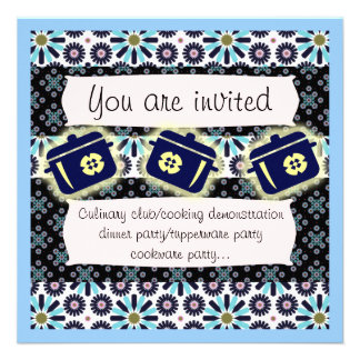 Pots and pans invitation