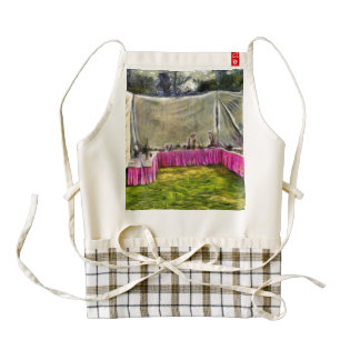 Pots and plants at an exhibition zazzle HEART apron