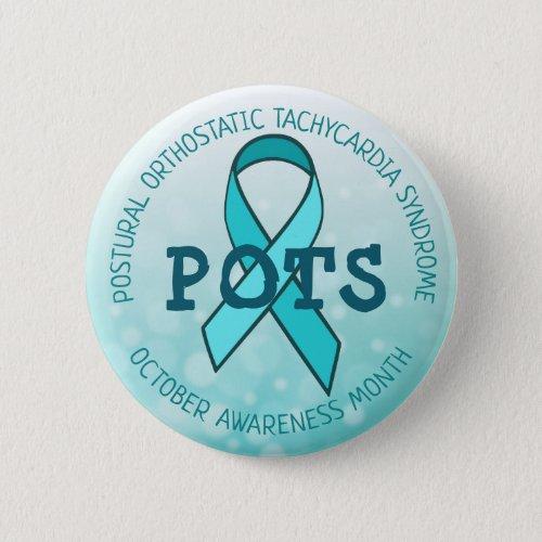 Pots Awareness Month Ribbon Button