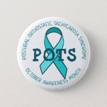 Pots Awareness Month Ribbon Button