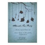Pots & Cups & Keys Unbirthday Birthday Tea Party 5x7 Paper Invitation Card