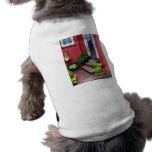Pots of Flowers By Door Dog T Shirt