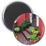 Pots of Flowers By Door Magnets