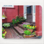 Pots of Flowers By Door Mouse Pad