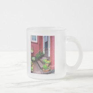Pots of Flowers By Door Coffee Mugs