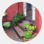 Pots of Flowers By Door Stickers