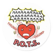 POTS problems Classic Round Sticker