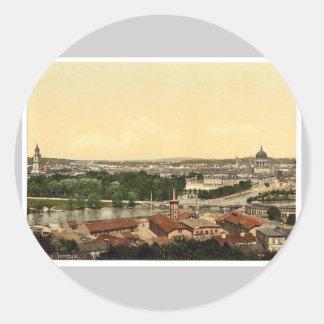 Potsdam, general view, Berlin, Germany rare Photoc Classic Round Sticker