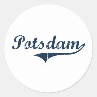 Potsdam New York Classic Design Classic Round Sticker