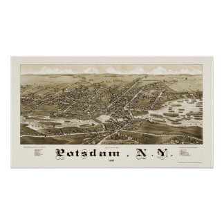 Potsdam, NY Panoramic Map - 1885 Poster
