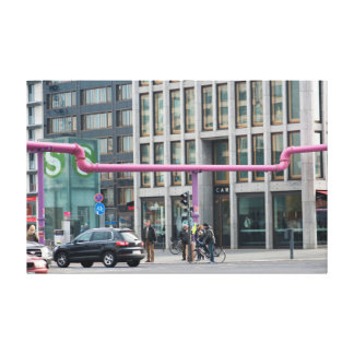 Potsdamer Platz Streets Gallery Wrapped Canvas