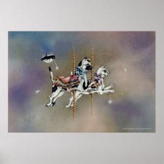 Potsers bella arte - gatos del carrusel impresiones