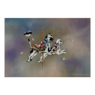 Potsers, Fine Art - Carousel Cats Poster