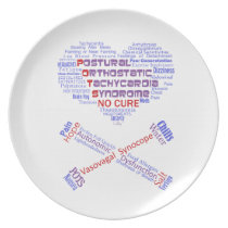 POTSIE Love Melamine Plate