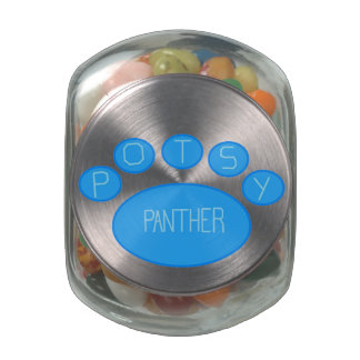 POTSy Panther Jelly Beans Glass Candy Jars