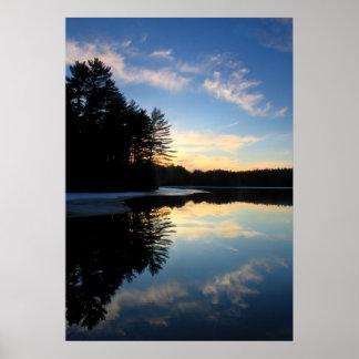 Pottapaug Pond Quabbin Reservoir Sunset Poster