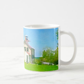 Pottawatamie Lighthouse, Rock Island, Door County Coffee Mug