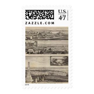 Pottawatomie County Farm, Junction City, Kansas Postage