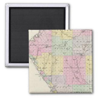 Pottawatomie County, Kansas 2 2 Inch Square Magnet