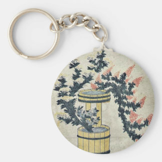 Potted autumn grasses and Rikka by UtamaroII d ca Key Chain