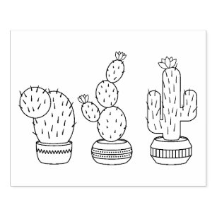 Cactus Rubber Stamps