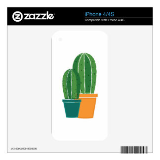 Potted Cactus iPhone 4S Decal
