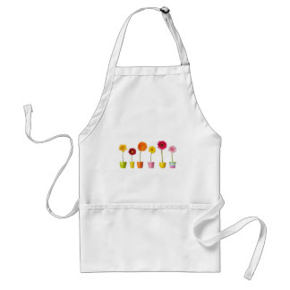 Potted flowers aprons