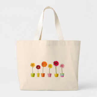 Potted flowers canvas bags