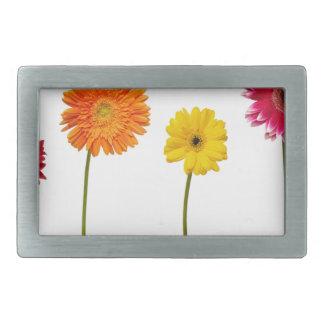 Potted flowers rectangular belt buckles