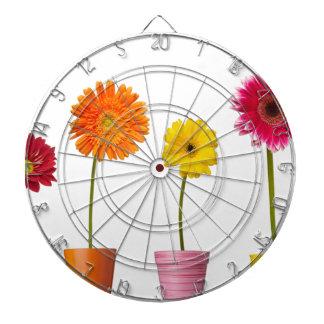 Potted flowers dart board