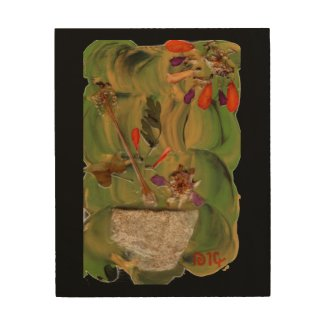 Potted Flowers fine art wood wall art