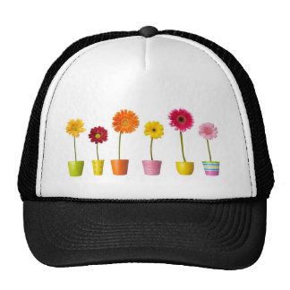 Potted flowers trucker hat