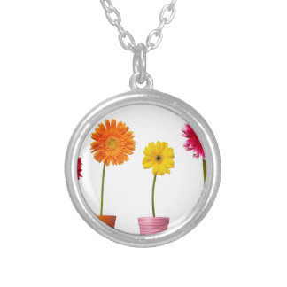Potted flowers necklace