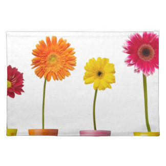 Potted flowers placemat