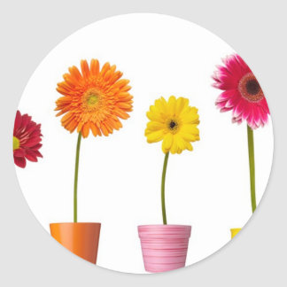 Potted flowers stickers
