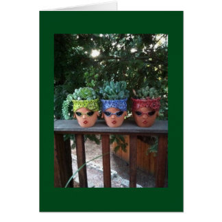 POTTED FRIENDS HANGING OUT TO SAY HAPPY BIRTHDAY CARD