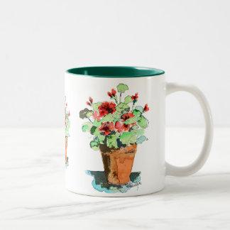 Potted Geranium Mug