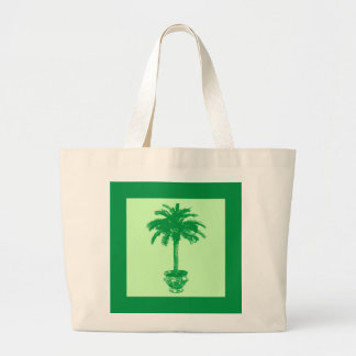 Potted Palm Tree - emerald and light green Bags