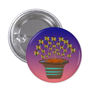 Potted Pinwheels Button