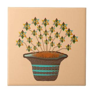 Potted Pinwheels Ceramic Tile