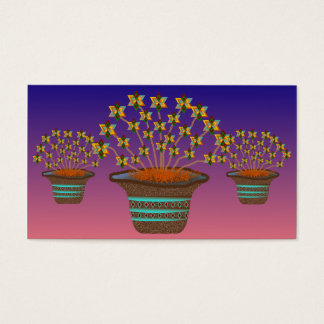 Potted Pinwheels Custom Business Cards