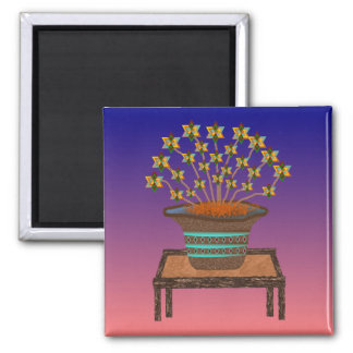 Potted Pinwheels Magnet 2x2