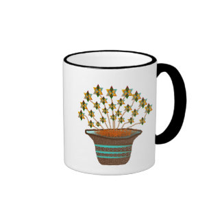 Potted Pinwheels Ringer Coffee Mug