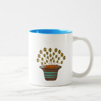 Potted Pinwheels Two-Tone Coffee Mug