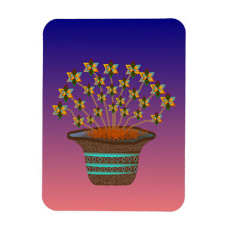 Potted Pinwheels Vinyl Flexi Magnet